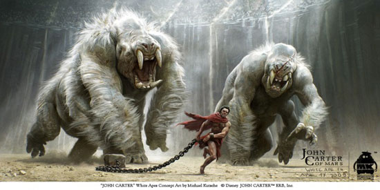 John Carter - White Apes Key Frame Drawing Illustration Inspiration