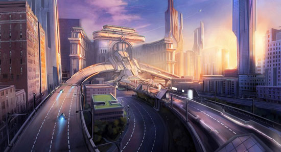 Wipeout 2048 - Arch Drawing Illustration Inspiration