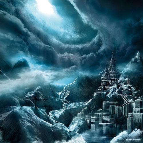 Adamant Citadel Digital Painting Landscape