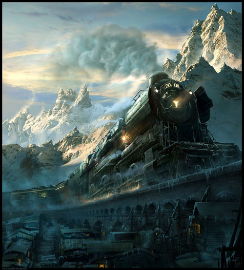Arctic Express 2008 Digital Painting Landscape