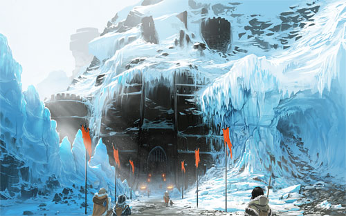 Glacial Castle Digital Painting Landscape