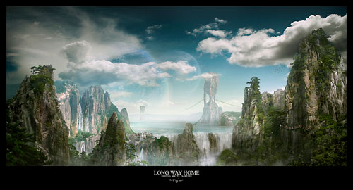 Long way home Digital Painting Landscape