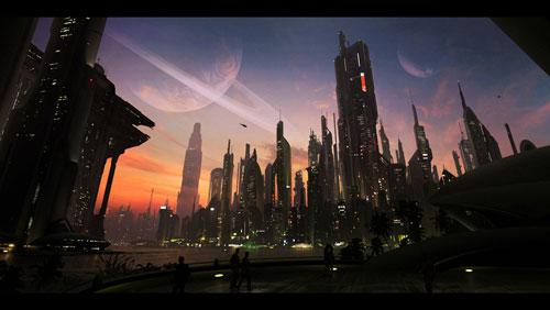 Metropolis Digital Painting Landscape
