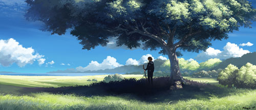Peaceful Days Digital Painting Landscape