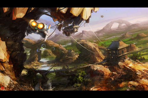 ThaiFlight Digital Painting Landscape