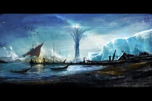 Yggdrasil Digital Painting Landscape