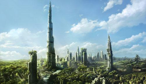 Dubai Ruins Digital Painting Landscape