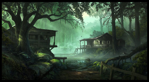 Swamp fever Digital Painting Landscape