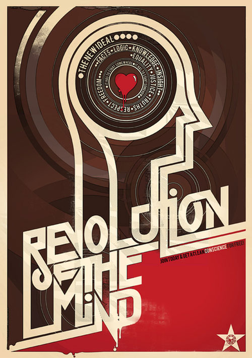 revolution of the mind poster