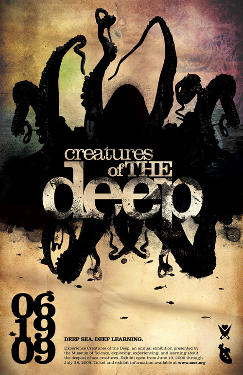 creatures of the deep poster