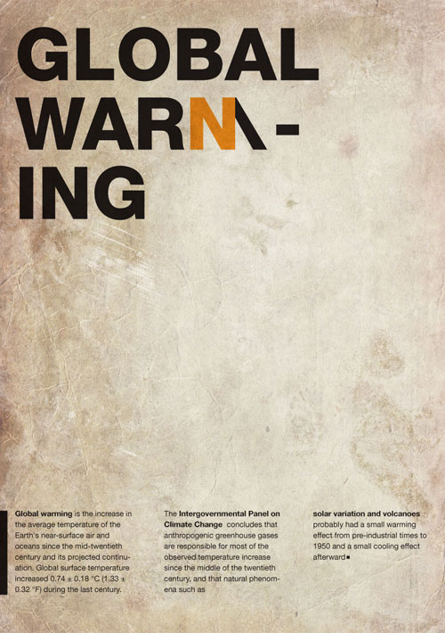 Global Warming warning Poster
