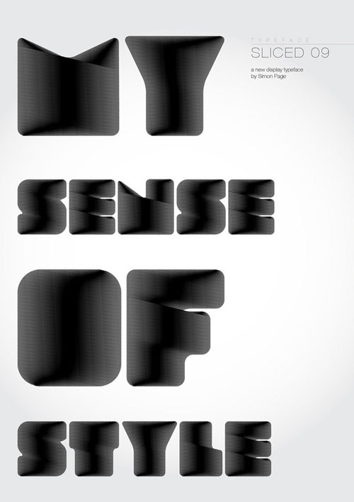 Hard to read typography poster