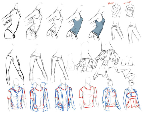 clothes study tutorial
