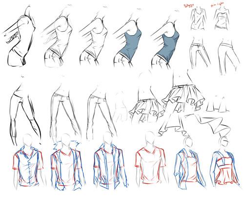 clothes study tutorial