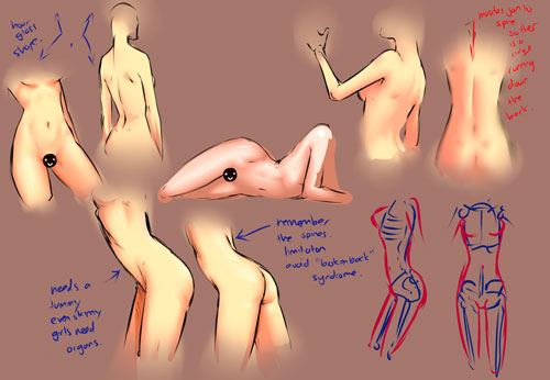 Female body study tutorial