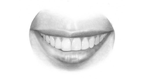How to Draw a mouth and teeth tutorial