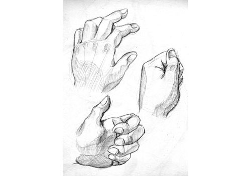 how to draw a fist behind