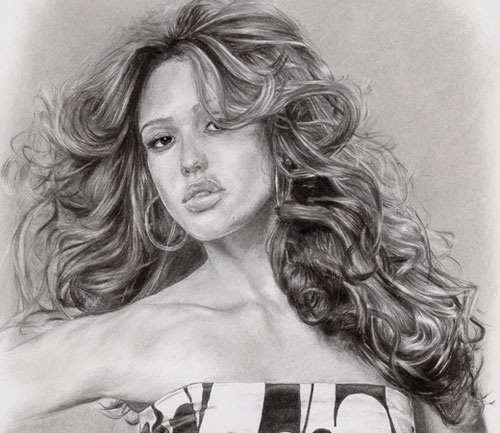 Hair drawing tutorial