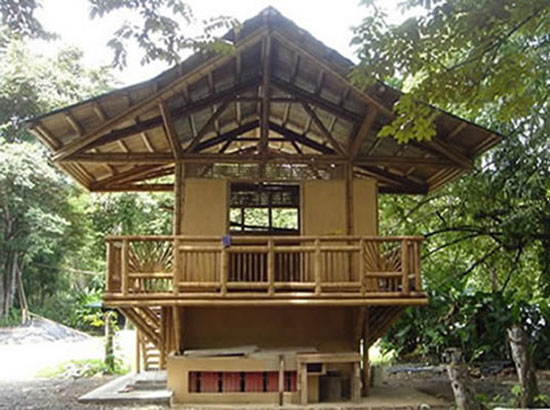 eco home design. Small Bamboo House Design tn2 25 Eco Friendly Houses Made With Natural Materials