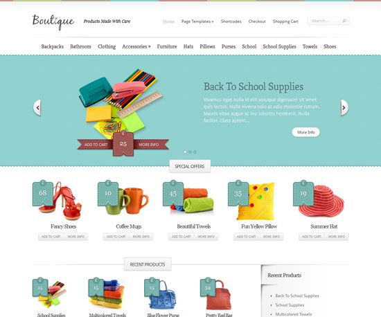 Boutique eCommerce WordPress Theme