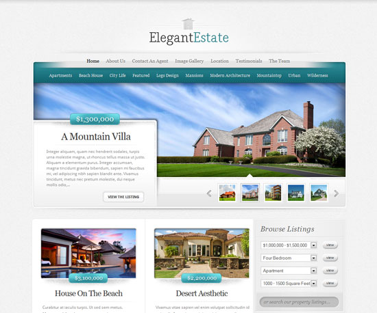 ElegantEstate eCommerce WordPress Theme