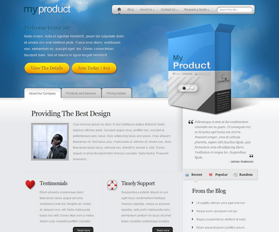 MyProduct eCommerce WordPress Theme