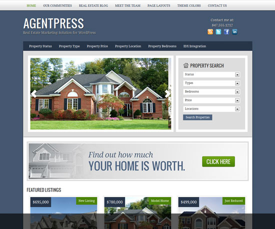 AgentPress eCommerce WordPress Theme