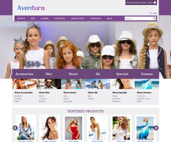 Aventura eCommerce WordPress Theme
