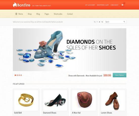 Bonfire eCommerce WordPress Theme