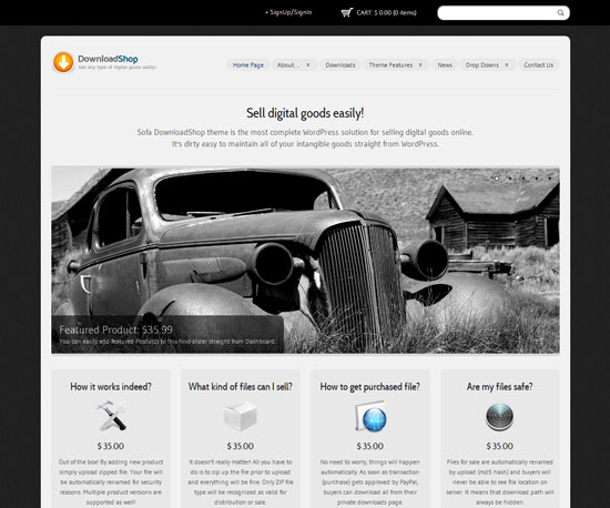 DownloadShop eCommerce WordPress Theme