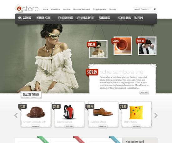 Squarespace ecommerce themes for Godaddy ecommerce templates