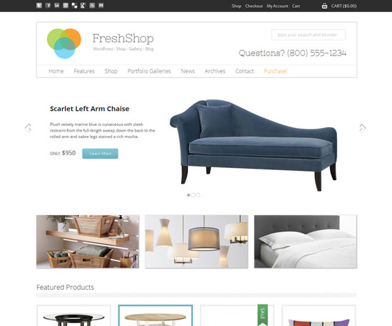 FreshShop eCommerce WordPress Theme