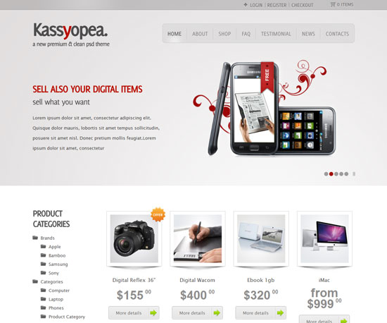 Kassyopea eCommerce WordPress Theme
