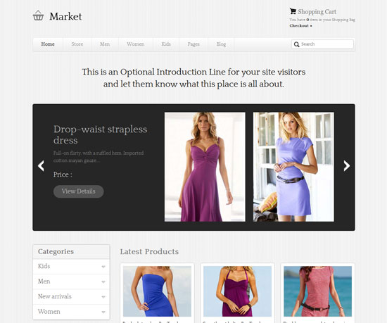 eMarket eCommerce WordPress Theme