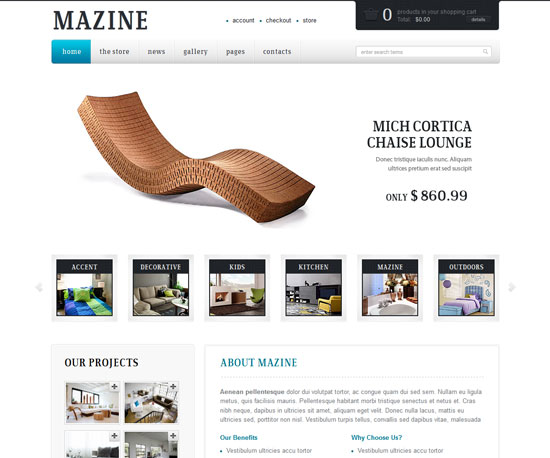 Mazine eCommerce WordPress Theme