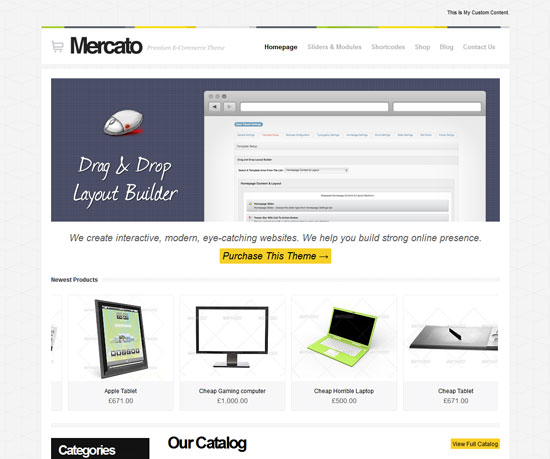 Mercato eCommerce WordPress Theme