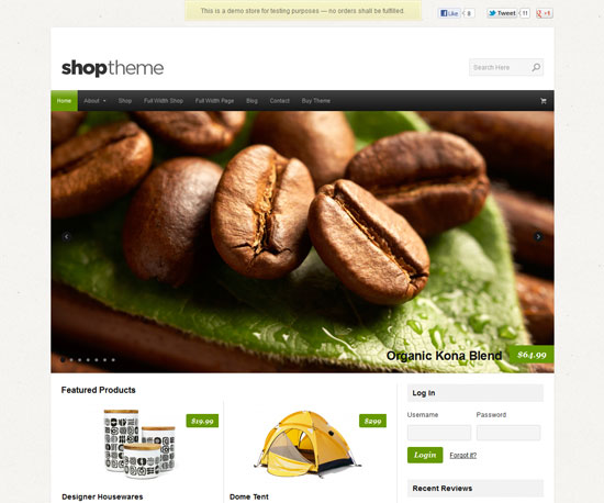 Shop eCommerce WordPress Theme