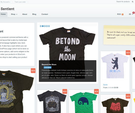 Sentient eCommerce WordPress Theme