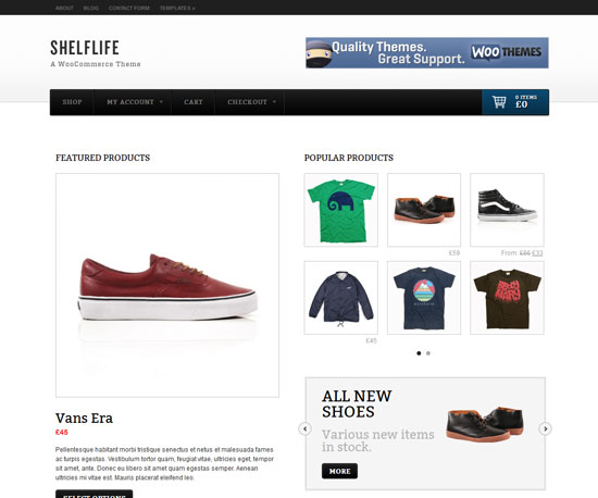 Shelflife eCommerce WordPress Theme