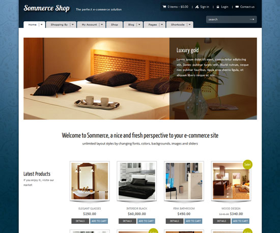 Sommerce Shop eCommerce WordPress Theme