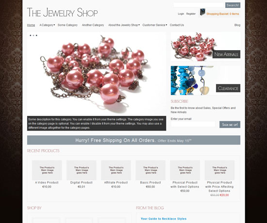 The Jewelry Shop eCommerce WordPress Theme
