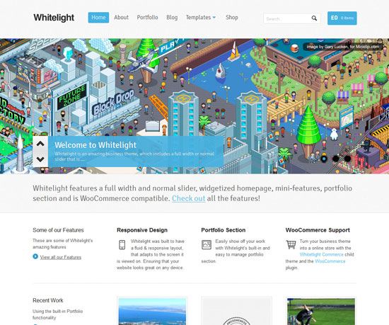 Whitelight eCommerce WordPress Theme