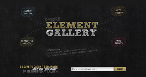 Element Gallery – Coming Soon Page