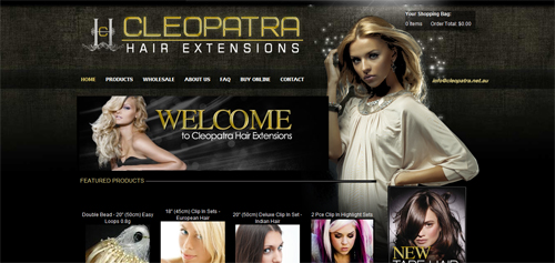 Cleopatra Hair Extensions 15 Effective Website Designs With Dark Color Schemes