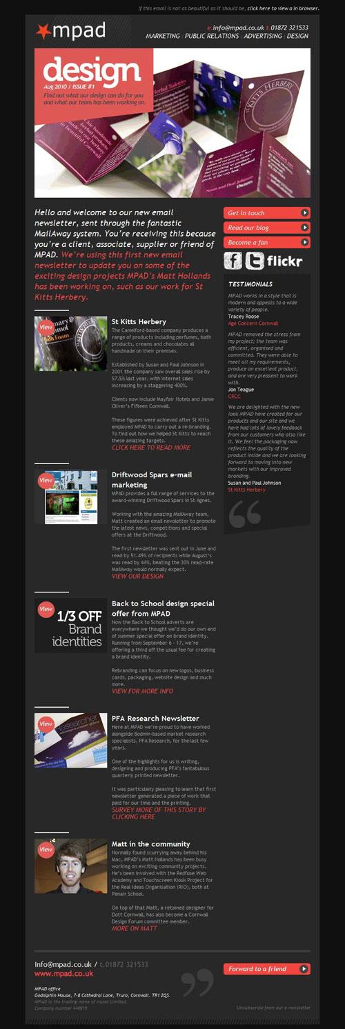 HTML Emails design inspiration 1