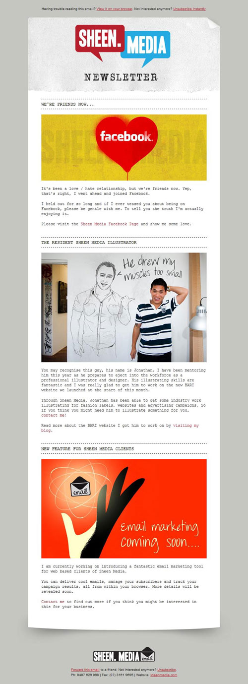 HTML Emails design inspiration 9