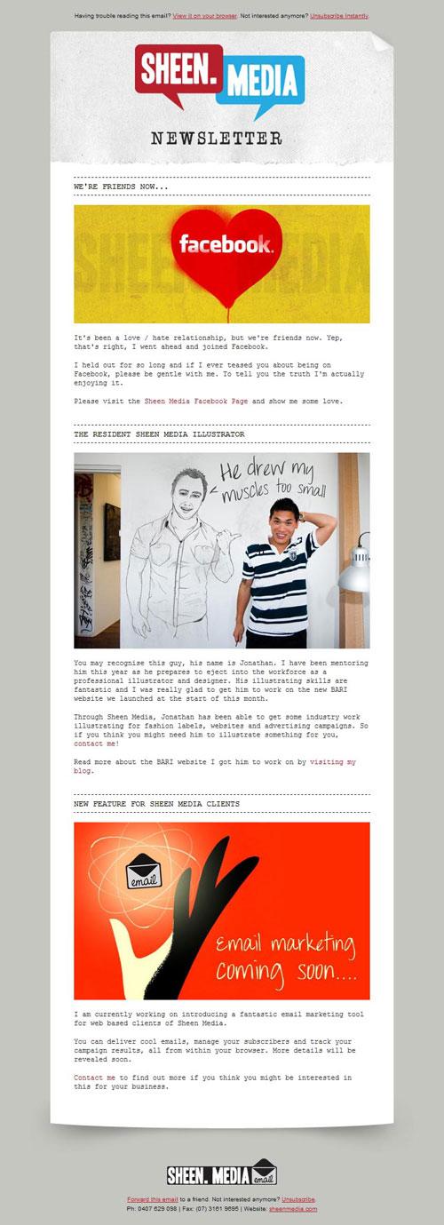 HTML Emails design inspiration 9