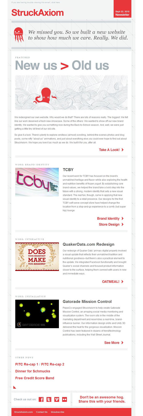 HTML Emails design inspiration 11