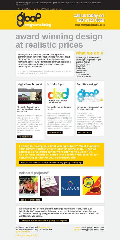 HTML Emails design inspiration 15