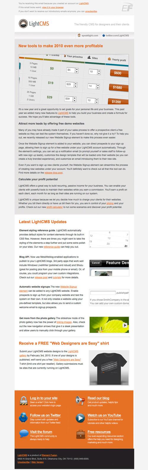HTML Emails design inspiration 14